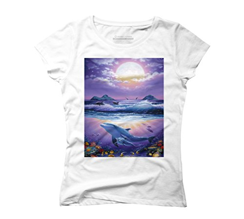Heavenly Ocean Women's Graphic T-Shirt - Design By Humans White