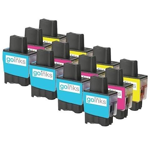 4 Compatible Couleur Brother LC900 Set C/M/Y (12 encres) -