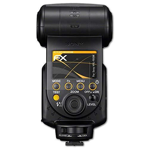 atFoliX Panzerfolie kompatibel mit Sony HVL-F60M Schutzfolie, entspiegelnde und stoßdämpfende FX Folie (3X) - Sony-hvl