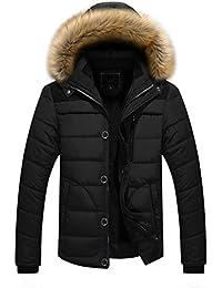 Steppjacke VENMO Männer Outdoor Mantel Warm Winter dick Jacke Plus Faux  Pelz Kapuzenmantel Herren Winterjacke Parka… d47e00097b