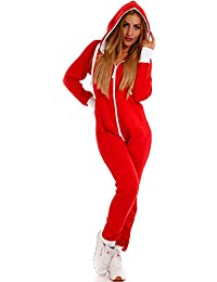 0e4e6131646c40 Crazy Age Basic Jumpsuits Ganzkörperanzug Einteiler One Piece Schlafanzug  Overall Damen Jumpsuit Kuschelig…