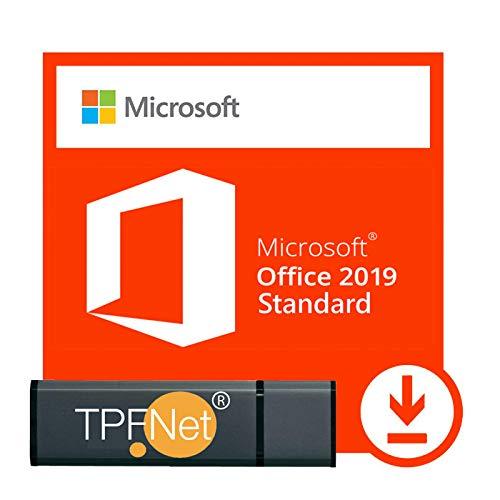 MS Office 2019 Standard 32 bit & 64 bit - Licenza Originale con una Chiavetta USB di TPFNet