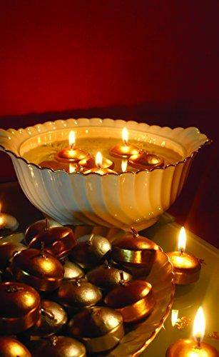 vela gomets velas flotantes no muy grandes perfectas para un bol de cristal