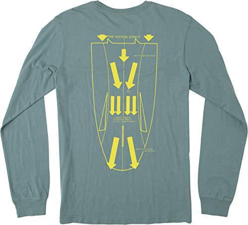 RVCA Herren Venturi Long Sleeve Tee T-Shirt, blau, schiefergrau, Groß -