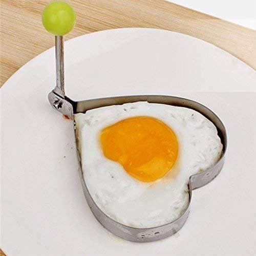 4 Formen für Spiegeleier Spiegeleiformer Pancakes Pfannkuchen Pfanne braten Eierformer 4x Herz (Pfannkuchen-herz Form)