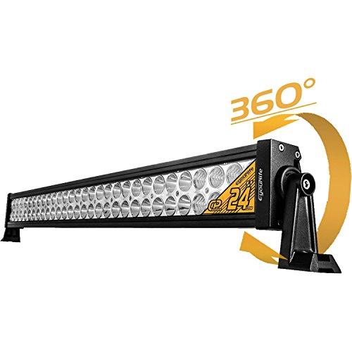 Eyourlife 22' 120W Faro LED Fuoristrada Barra LED Luminosa LED Faro LED Auto Impermeabile Luci da Auto Condotto di Azionamento LED Fanale LED in Lega 4WD B