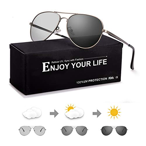 SODQW gafas sol fotocromaticas polarizadas hombre