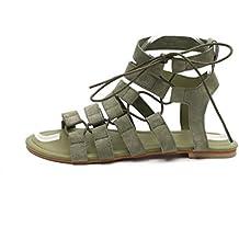Angelof Sandales Sandales Femmes, Corde Compensees Femme Ete Chaussures Plates BohêMe Escarpin Plage Sandales Ouvertes Grande Taille Sandales Orthopedique