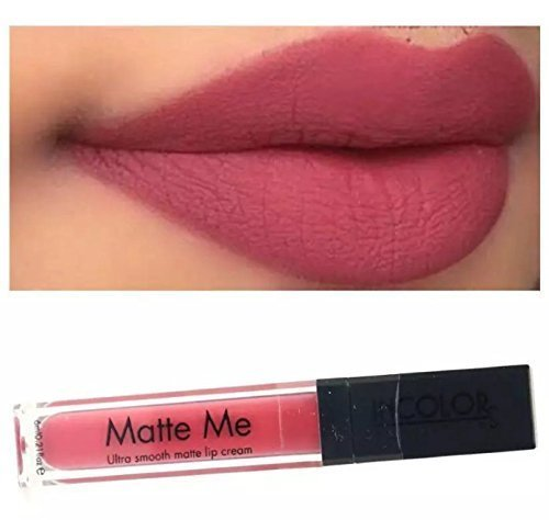 Incolor Matte Me 24Hr Stay Ulta Smooth Lip Cream - Nude Buy 1 And Get 1 Round Pcs Free