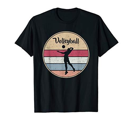 Vintage Volleyballer Evolution Beach Volleyball Spieler T-Shirt