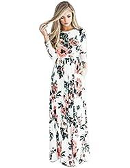 vestidos, Sannysis falda mujer floral vestidos de fiesta largos de noche