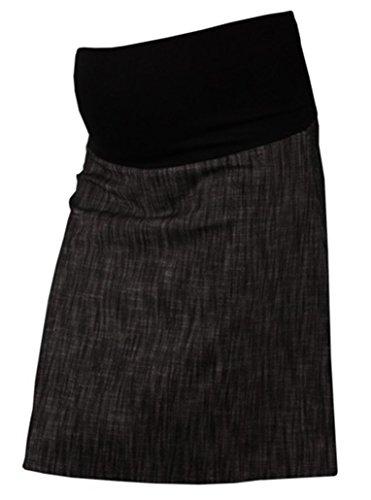 Zeta Ville Intelligent Coton Overbump Maternité Grossesse Jupe 250 Noir