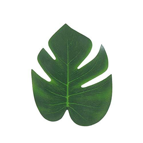 mblätter Kunstpflanzen Grüne Blätter Deko Dschungel Themen Strand Themen-Dekorationen Geburtstage Dekoration 12 Stück ()