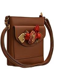 TAP FASHION Fancy Stylish Party Wear Women's Sling Bag With 3d Rose Flower.