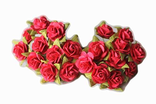 ALONG 100(Dark Pink) Mulberry Papier Mini Rose Miniatur Craft DIY Tiny Tree Scrapbooking Hochzeit Puppe Haus Supplies Card -