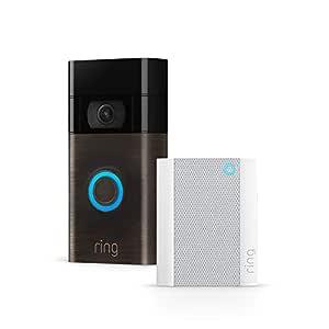 Ring Video Doorbell + Ring Chime | Videocitofono in HD, rilevazione avanzata del movimento e facile installazione (Seconda Generazione)