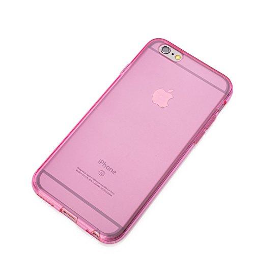 iPhone 6 6S Hülle Silikon Case TPU Schutzhülle mit integriertem Linsen Schutz für die Kamera Farbe Blau Pink