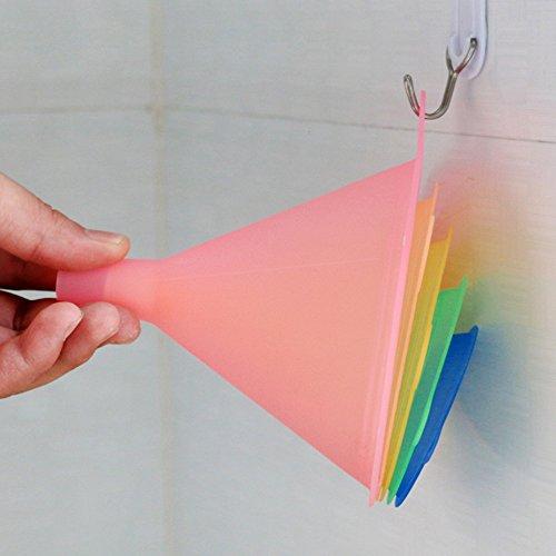 Trichter Küche Regenbogenfarben Trichter Set – 5 Stück Kochtrichter (67 - 5