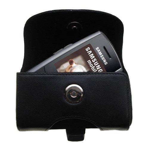 Custodia in pHorizontale schwarze Tragetasche für die Samsung SGH-M600 mit integrierter Gürtelschlaufe