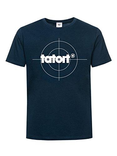 Tatort Classic Logo T-Shirt navy M (Logo Navy Classic T-shirt)