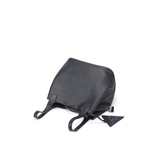 Borsa A Tracolla Tote Bag In Vera Pelle Di Alta Qualità Yvonnelee Donna Nera