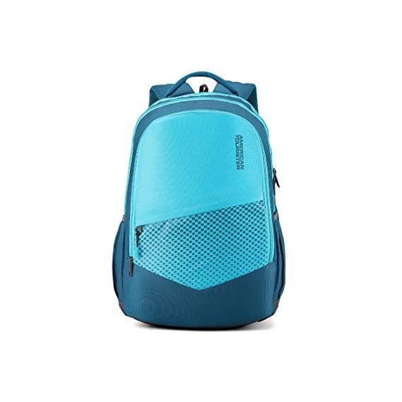 American Tourister 29.5 Ltrs Teal Casual Backpack (AMT Mist SCH BAG02 Teal)