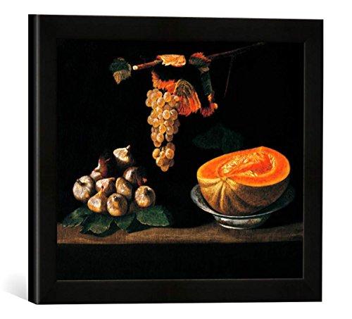 gerahmtes-bild-von-baltazar-gomes-figueira-stilleben-mit-feigen-weintraube-und-melone-kunstdruck-im-