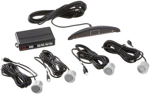 *VSG R4S Einparkhilfe mit Farb-Display und eingebauten Pieper inklusiv 4 Sensoren, silber*