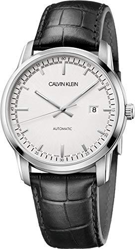 Calvin Klein Reloj Analógico para Hombre de Automático con Correa en Cuero K5S341CX