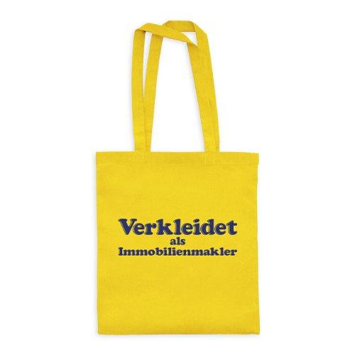 ltasche Verkleidet als Immobilienmakler drpt-bwt00377-32 Textil yellow / Motiv violett - 42 x 38 cm (Raum, Kostüme Frauen)