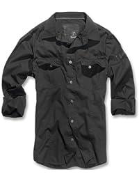 Brandit men slim men s shirt B-4005 - Black - X-Large 3eba1349d4