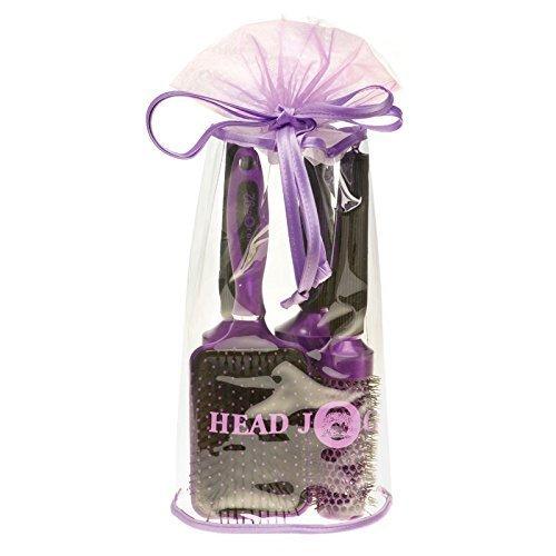 Head Jog Oval Brush Bag, Purple by Hair Tools