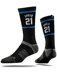 cd25b91ad7beca Strideline NBA Philadelphia 76ers Joel Embiid Jersey Premium Athletic Crew  Socks