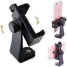 "Bingolar Universal Smartphone trípode adaptador,1/4""-20(vertical/rotatorio soporte adaptador de trípode ajustable abrazadera) para iPhone/Samsung Galaxy/Google Nexus trípode Monopod Selfie Stick"