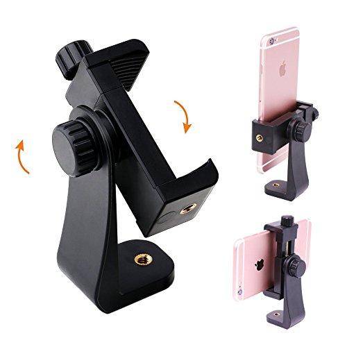 """Handy Stativadapter,Bingolar Universal Handy Stativ Adapter Smartphone halterung Tripod Selfie Stick Monopod mit Standard 1/4""""-20 Schraubenkopf, für Iphone 7plus 6s 5 SE,Smartphone Tripod Adapter."""