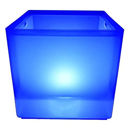 Reuvv LED Cubo Hielo 5L Enfriador Vino Colores Cambio