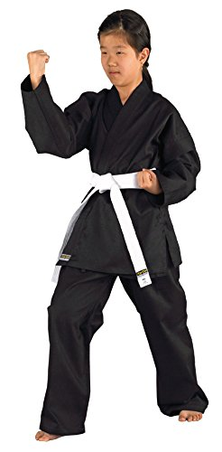 Karateanzug Shadow von KWON, schwarz, 551101, Gr. 110-200
