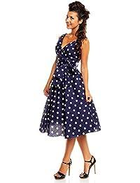 Ladies Retro Vinatge 1950's Rockabilly Party Swing Prom Marilyn Polka Dot Plus Size Dress