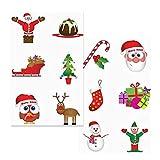 12x Petites Sticker S Noël, Advent, pour calendrier de l'avent, petit cadeau de Noël, tatouage, une fois de tatouages