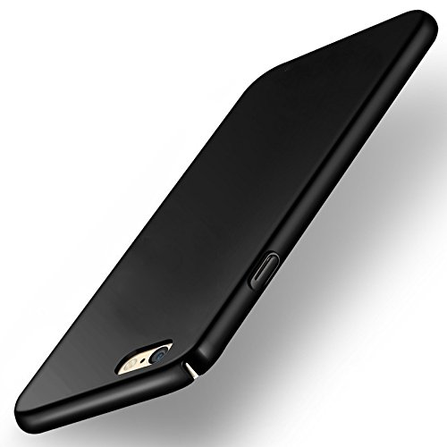 """WOW Imagine(TM) All Sides Protection """"360 Degree"""" Sleek Rubberised Matte Hard Case Back Cover For OPPO F1S - Pitch Black"""