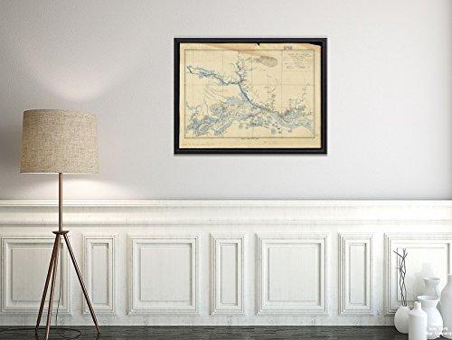 New York Map Company 1903 Karte Amazonas-Fluss, Brasilien, Norte- Pará Vallée de l'Amazone de Faro a Alemquer, Rio Trombetas, historischer antiker Vintage-Nachdruck, fertig zum Einrahmen -