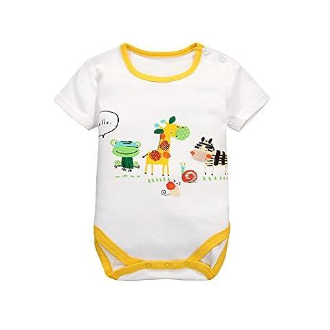 CuteOn À manches courtes unisexe bébé infantile Jumpsuit bébé Coton Vêtements 09 Bonjour Grenouille 12