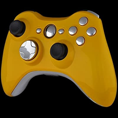 Xbox 360 Wireless Controller - Mustard Yellow with Chrome Buttons