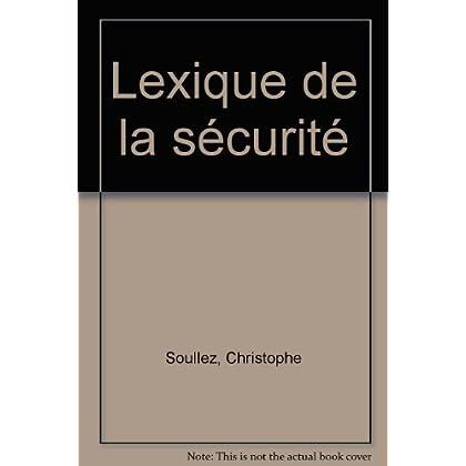 Lexique de la sécurité