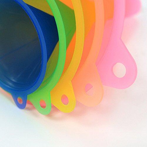 Trichter Küche Regenbogenfarben Trichter Set – 5 Stück Kochtrichter (67 - 6