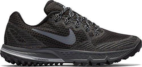 Nike Air Zoom Wildhorse 3 Damen Laufschuhe Schwarz/Wolf Cool Grau/Dunkelgrau, 40.5 EU (Wildhorse Nike)