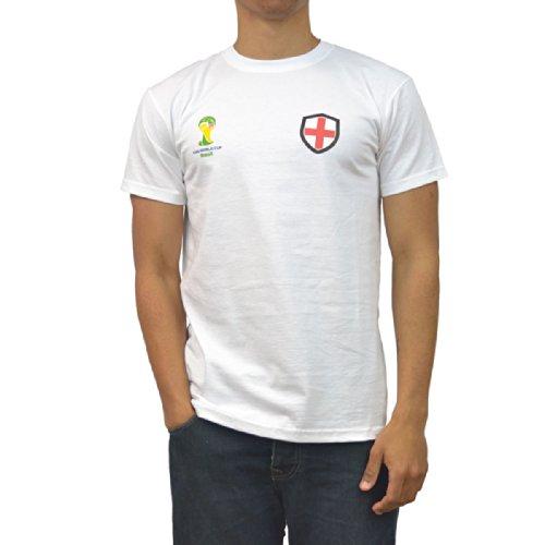 GB Sports FIFA World Cup 2014 T-Shirt aux Couleurs de l'Angleterre pour Homme S, M, L, XL ou XXL Rouge - Rouge