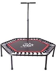 Best For Sports Fitness Trampolin mit stange, Bungee-Seil-System 42 Stück, Ø 110 cm, bis 135 kg Benutzergewicht TÜV geprüft
