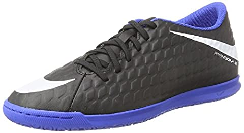 Nike Herren Hypervenomx Phade III IC Fußballschuhe, Schwarz (Black/Black/Game Royal), 41 EU