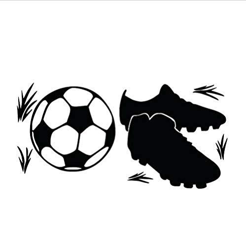 Turnschuhe Und Fußball Wandaufkleber Hohe Tapete Junge 58x29 cmdecoration Decals Poster -